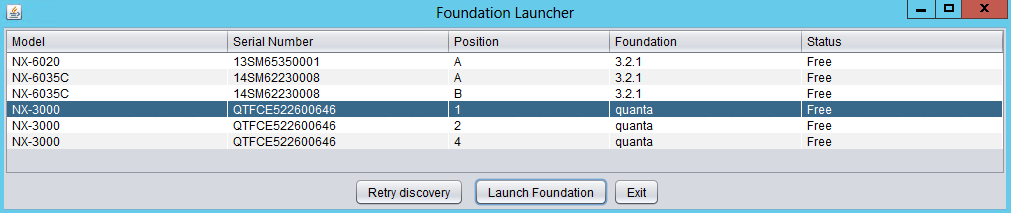Foundation - Discovery Applet