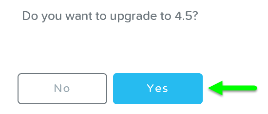 Upgrade Software - Confirm Upgrade
